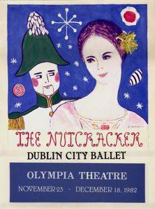 Colour poster advertising a Dublin City Ballet performance of the Nutcracker