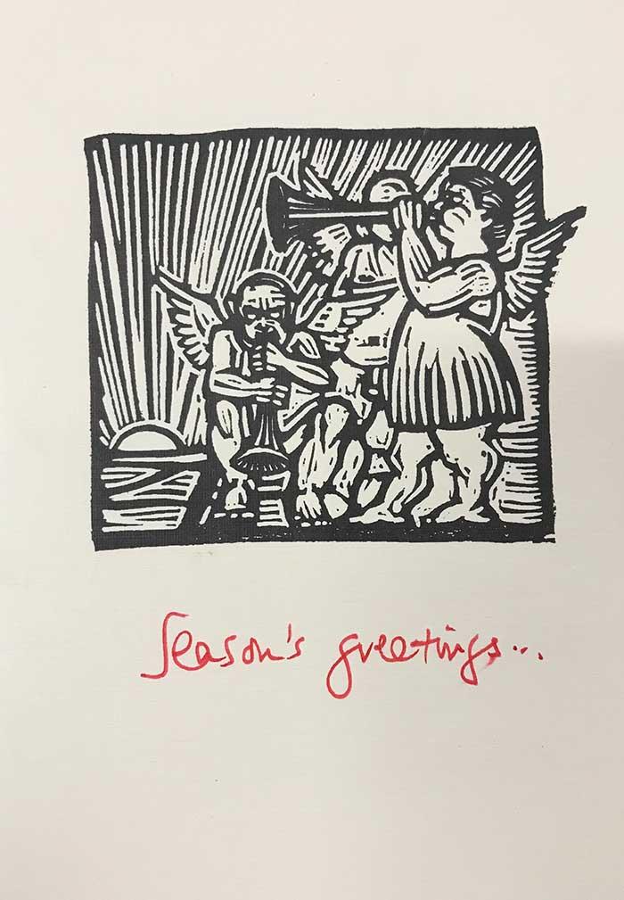 A Christmas woodcut