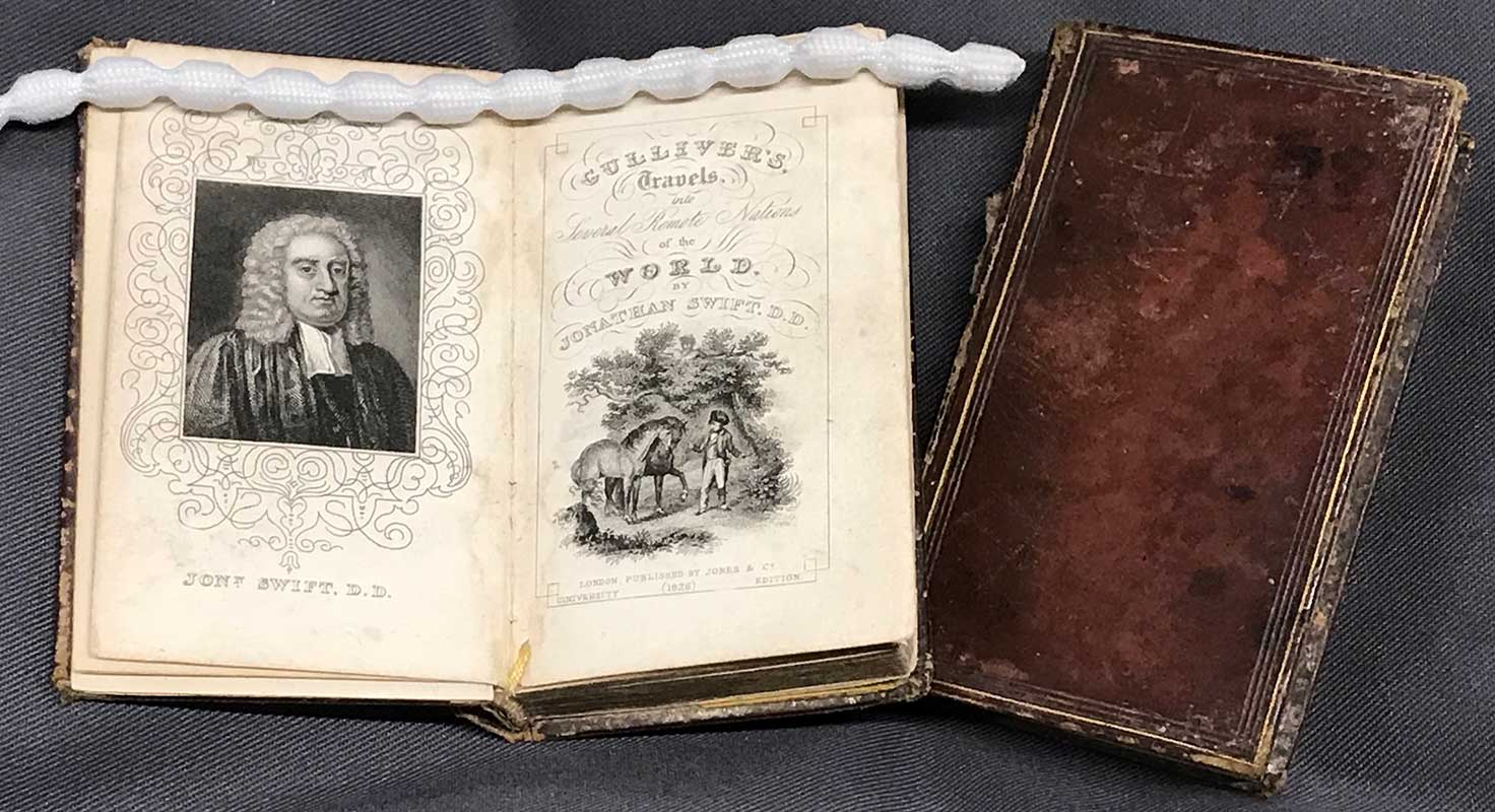 Miniature volumes of Gulliver's Travels