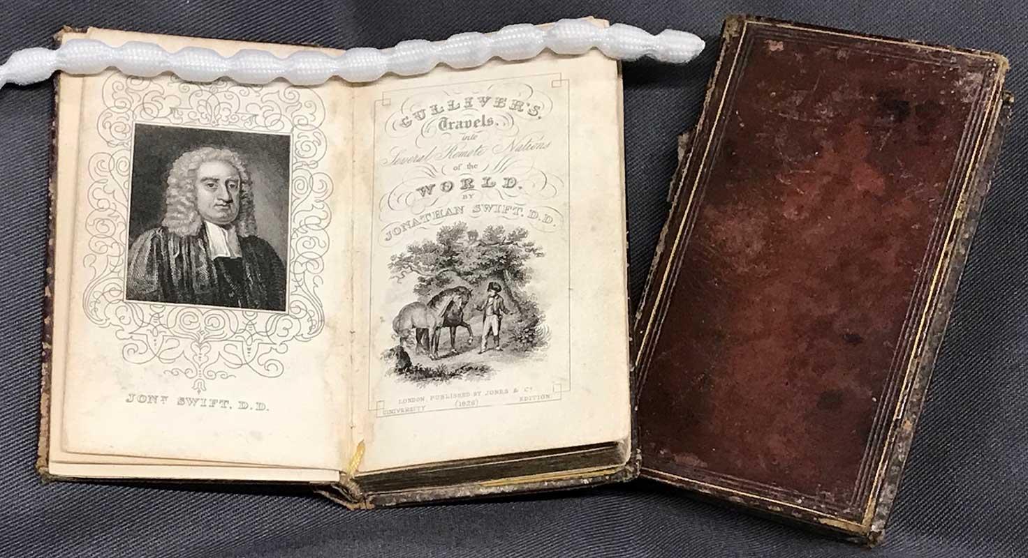 Miniature volumes of Gulliver's Travels