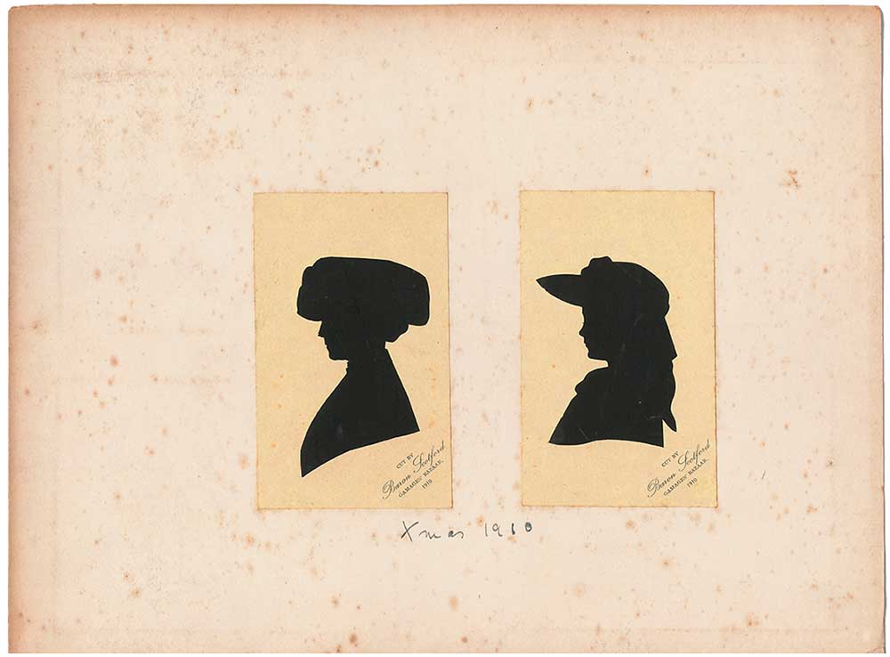 A pair of silhouettes