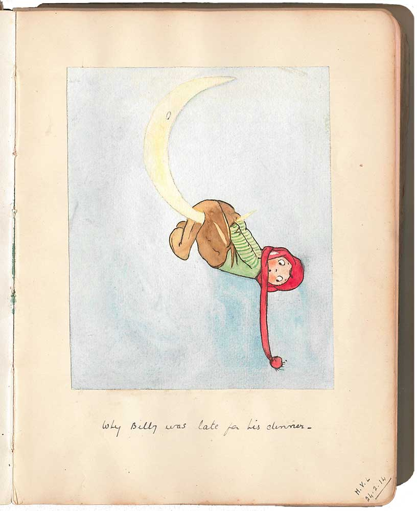 A sketch from Winifred Barrington's album