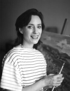 Rosemarie Cockayne photographed painting, c1980
