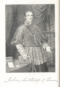 Black-and-white illustration of Archbishop John MacHale
