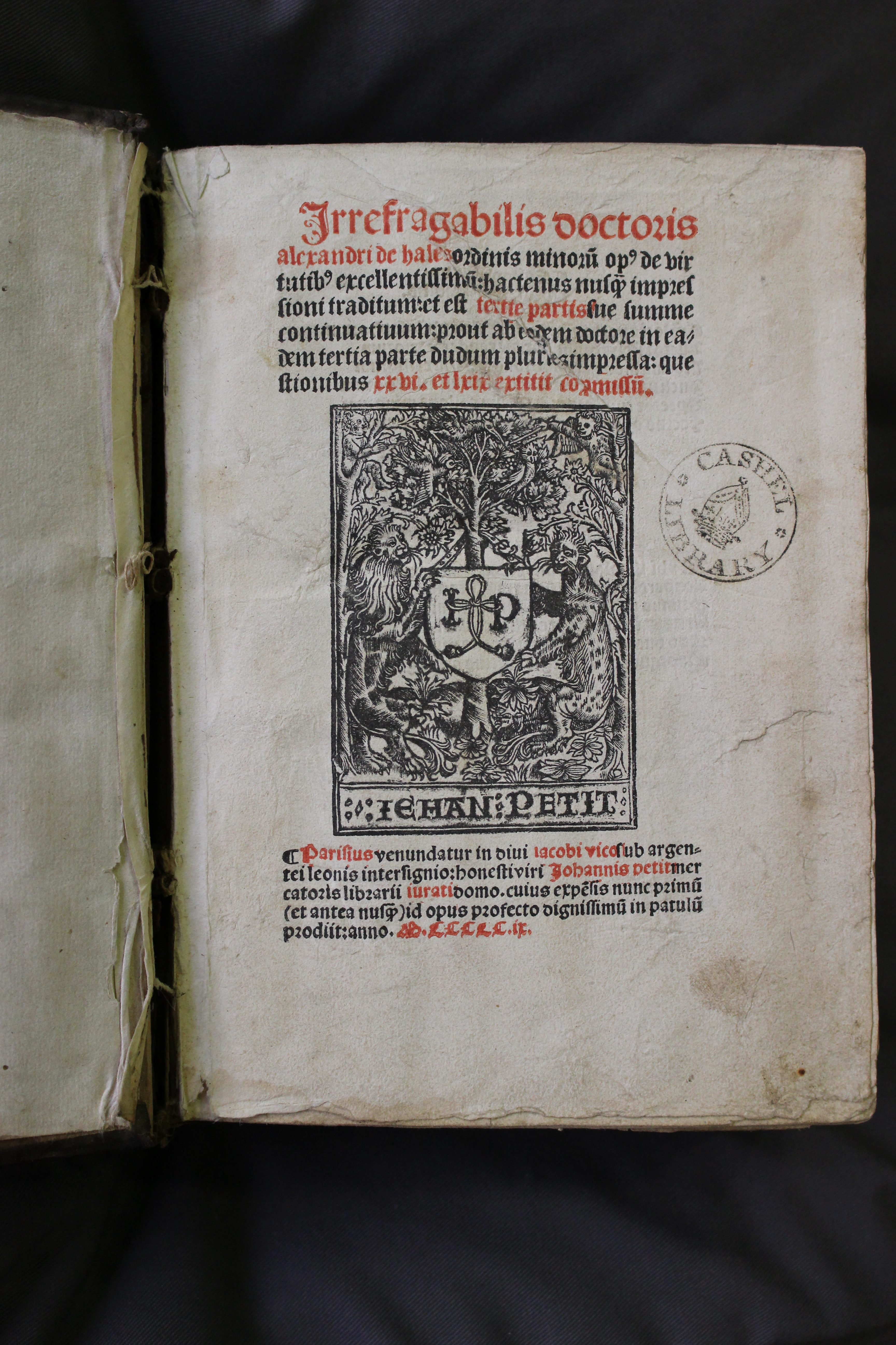 Title page of Bolton I.17.22