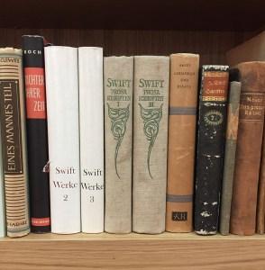 ten shelved books