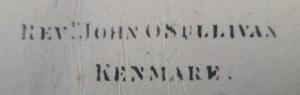 Stamp of John O'Sullivan, Kenmare