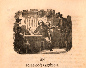 Illustration from Irish translation of Easy lessons in money matters