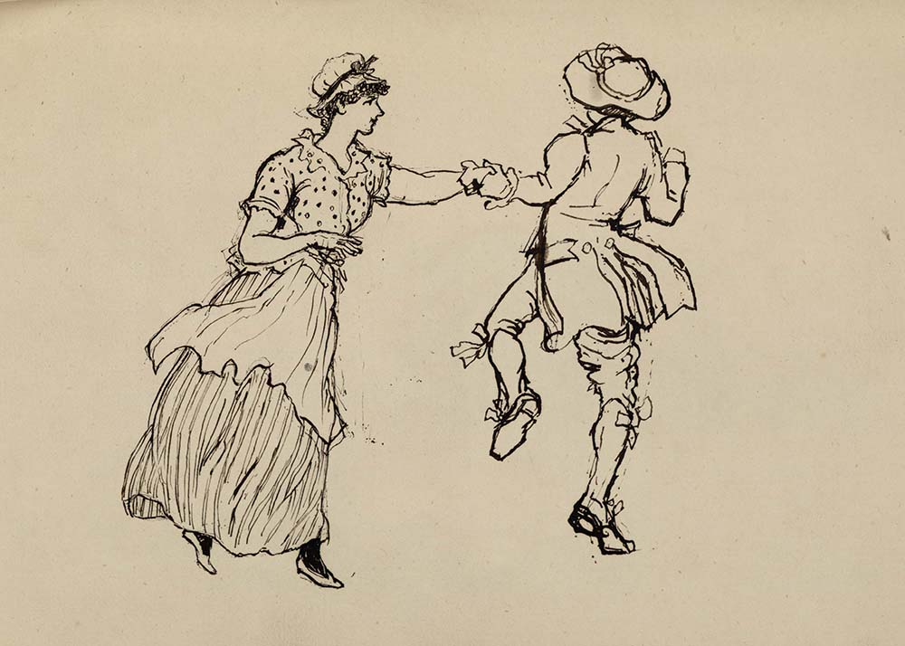 Artwork by Amelie T. Amherst, featuring a dancing couple