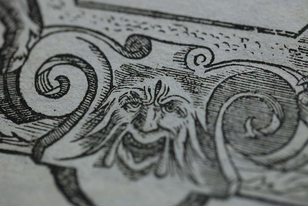Close-up of the title page for the second volume of F.17.48