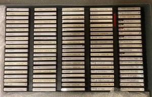 Box containing tapes of interviews from the LCTOH Archives