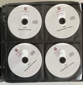 Four audio CD's of interviews from the LCTOH Archives